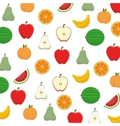 Fruit salad plate isolated icon vector