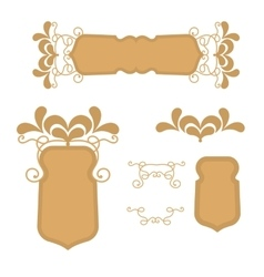 Gold retro of a frame or banners vector image