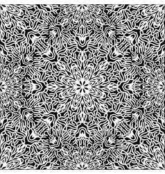 Graphic coral circle pattern vector