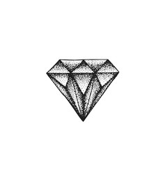 Hand drawn diamond vector
