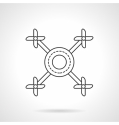 Multicopter line flat line icon vector image vector image