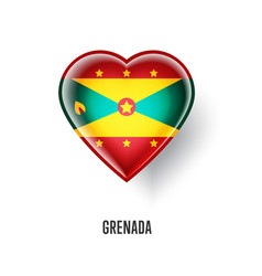 Patriotic heart symbol with grenada flag vector