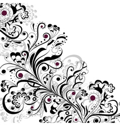 Pattern in black and white vector image vector image