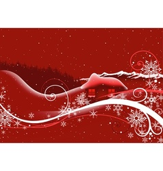 Red Abstract Christmas vector image vector image