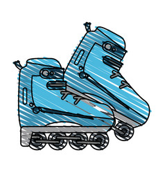 rollerblades vector image
