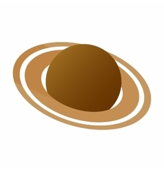 Saturn 3d isometric icon vector image vector image