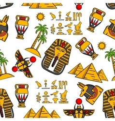Seamless pattern of ancient egyptian ornaments vector