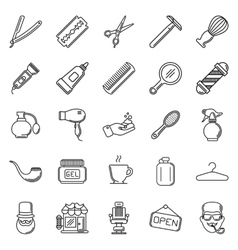 Set of Barber Shop Elements vector image