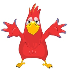 Showing Funny Parrot vector image