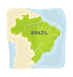 Territory of Brazil icon in cartoon style isolated vector image vector image