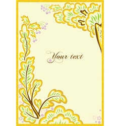 Beautiful frame from leaves and flowers vector
