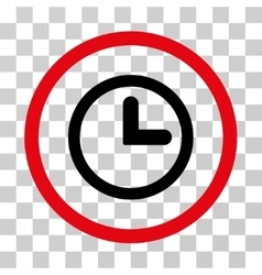 Clock rounded icon vector