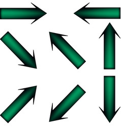 green arrow vector image