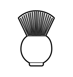 Barbershop brush isolated icon vector