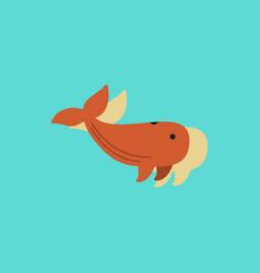 Sea wheal in sticker style vector