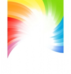 vector rainbow background vector image