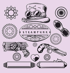 Steampunk Vintage Element Set vector image