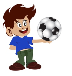 Kid and football vector