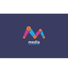 Abstract colored logo Play logo Media vector image