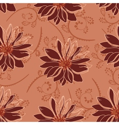 seamless flowers red vector image