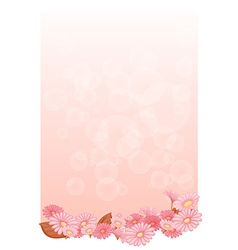 An empty pink colored stationery vector image vector image