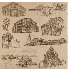 Architecture - an hand drawn pack vector