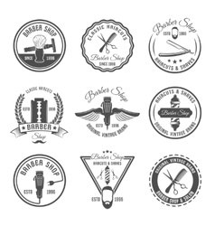 Barber Emblem Or Label Set vector image vector image