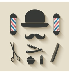 Barber icon set vector