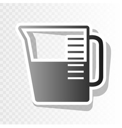 Beaker sign new year blackish icon on vector