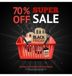 Black friday sale print vector