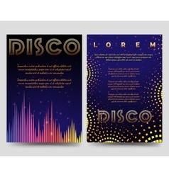 Bright disco brochure flyers template vector