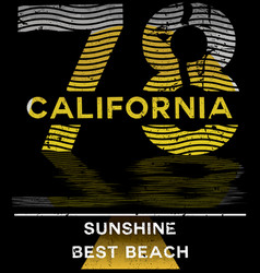 california typography graphics t-shirt printing vector image