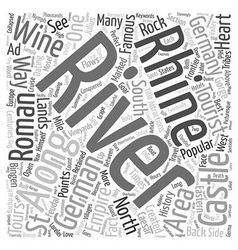 Castles along the rhine text background wordcloud vector