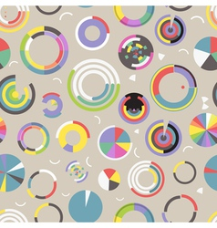 Circle chart seamless pattern vector image