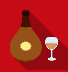 Cognac icon in flat style isolated on white vector