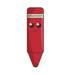Color crayon comic character vector