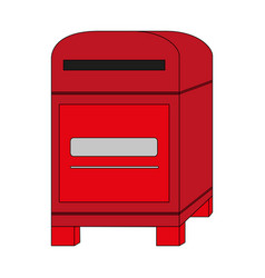 Color image cartoon post office box vector