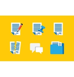Contract Icons vector image vector image