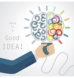 Creative brain idea vector
