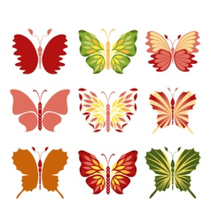 Decorative butterflies vector image vector image