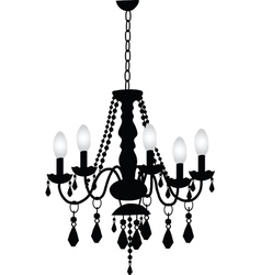 Decorative Chandelier vector image