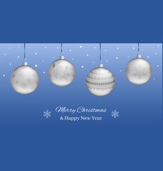 festive horizontal banner or christmas new year vector image vector image