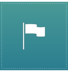 Flag icon location marker symbol flat design style vector
