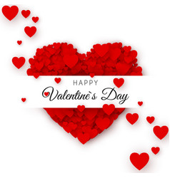 happy valentines day greeting card cover template vector image vector image