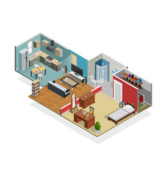 house interior concept vector image