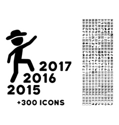 Human Figure Steps Years Icon vector image vector image