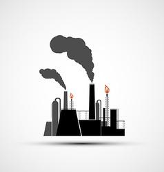 Logo industrial plant vector