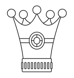 Medieval crown icon outline style vector