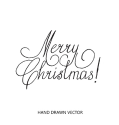Merry christmas lettering set hand drawn vector image