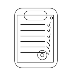 Plan document icon outline style vector